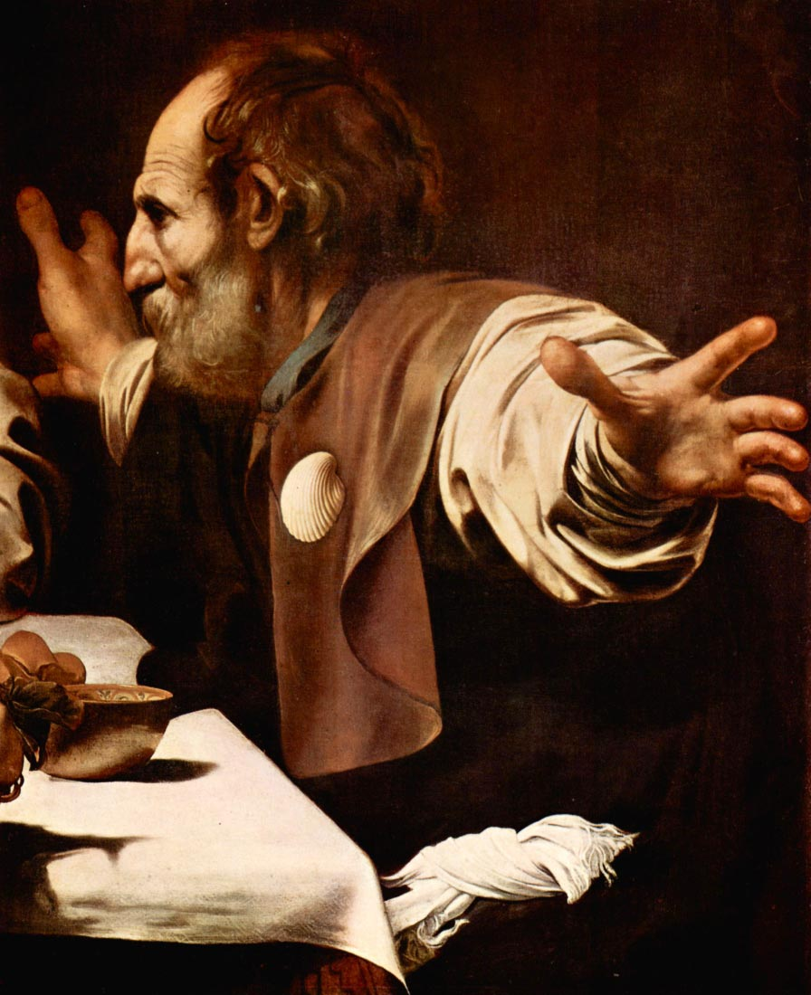 Christ in Emmaus, detail - Disciples of Christ [2] - Caravaggio